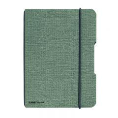 CAIET MY.BOOK FLEX A6 40 FILE PATRATELE COPERTA DIN PANZA GRI ELASTIC NEGRU