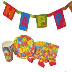 SET PARTY HAPPY BIRTHDAY, SET 25 PIESE