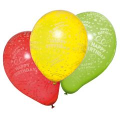 BALOANE HAPPY BIRTHDAY, CALITATE HELIUM, BIODEGRADABILE, SET 10 BUCATI