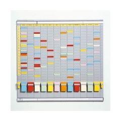 Planner anual cu T-cards, cu 35 de slot-uri, complet, JALEMA - gri deschis