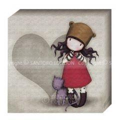 Gorjuss Pictura pe panza - Purrfect Love