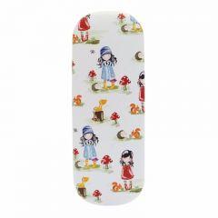 Etui ochelari Gorjuss Pastel Pattern Collection - Toadstools