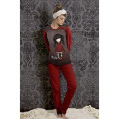 Pijama dama in cufar Gorjuss Ruby lunga