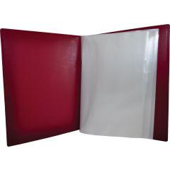Dosar de prezentare cu 40 folii, A4, coperta rigida, KANGARO - bordeaux