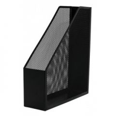 Suport metalic Mesh, pentru reviste si cataloage, Q-Connect - negru