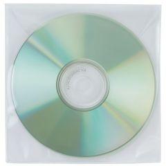 Plicuri plastic PP pentru CD/DVD, 50 buc/set, Q-Connect