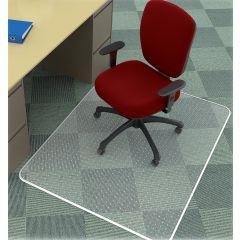 Covoras PVC transparent, protectie mocheta, 120 x  90cm - forma dreptunghiulara, Q-Connect