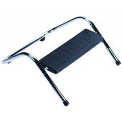 Suport ergonomic pentru picioare, ajustabil (x4), metalic, Q-Connect - negru/argintiu