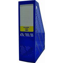 Suport vertical plastic pentru cataloage,  75mm, KEJEA - albastru
