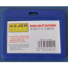 Suport PP dubla fata, pentru carduri,  85 x  55mm, orizontal, 5 buc/set, KEJEA - bleumarin