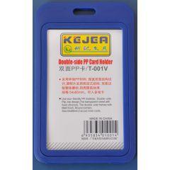 Suport PP dubla fata, pentru carduri,  55 x  85mm, vertical, 5 buc/set, KEJEA - bleumarin