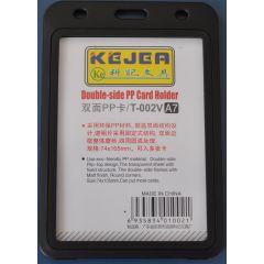 Suport PP dubla fata, pentru carduri,  74 x 105mm, vertical, 5 buc/set, KEJEA - negru