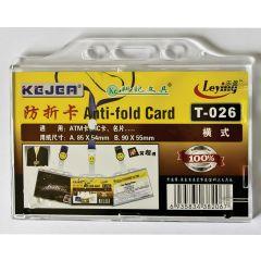 Suport PP, pentru carduri, 85 x 54mm, orizontal cu sistem anti-alunecare, 5 buc/set, KEJEA - transp.