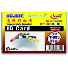 Buzunar PVC, pentru ID carduri,  85 x  55mm, orizontal, 10 buc/set, KEJEA - margine color