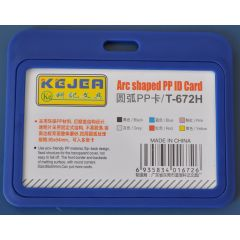 Suport PP tip arc, pentru carduri,  85 x  55mm, orizontal, 5 buc/set, KEJEA - bleumarin
