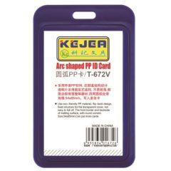 Suport PP tip arc, pentru carduri,  55 x  85mm, vertical, 5 buc/set, KEJEA - bleumarin