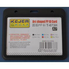 Suport PP tip arc, pentru carduri, 105 x  74mm, orizontal, 5 buc/set, KEJEA - negru