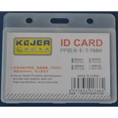 Suport PP water proof, pentru carduri,  85 x  55mm, orizontal, 5 buc/set, KEJEA - transparent