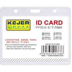 Suport PP water proof, pentru carduri, 128 x  91mm, orizontal, 5 buc/set, KEJEA - transparent