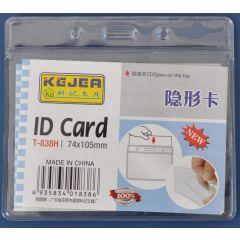 Buzunar PVC, pentru ID carduri, 105 x  74mm, orizontal, 10 buc/set, KEJEA - cristal