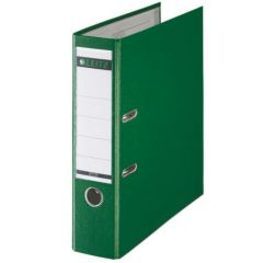 Biblioraft LEITZ 180, A4, plastifiat PP, margine metalica 80 mm - verde