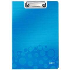 Clipboard dublu LEITZ Wow, PP - albastru metalizat