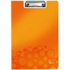 Clipboard dublu LEITZ Wow, PP - portocaliu metalizat