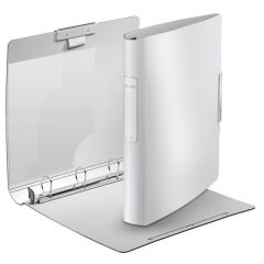 Caiet mecanic LEITZ Active Style SoftClick, mecanism 4DR, inel 30mm, polyfoam - alb arctic