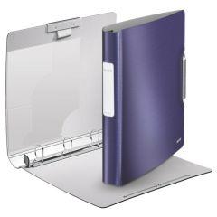 Caiet mecanic LEITZ Active Style SoftClick, mecanism 4DR, inel 30mm, polyfoam - albastru violet