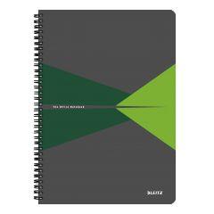 Caiet de birou LEITZ Office, PP, A4, cu spira, matematica - verde
