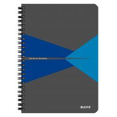 Caiet de birou LEITZ Office, PP, A5, cu spira, matematica - albastru