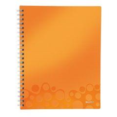 Caiet de birou LEITZ Wow Get Organized, PP, A4, dictando - portocaliu metalizat