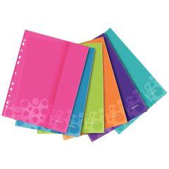 Folie protecţie color LEITZ Wow cu arici, 6 buc/set - diverse culori
