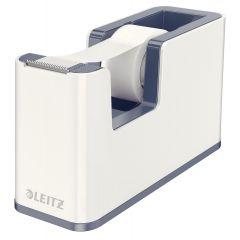 Dispenser cu banda adeziva inclusa LEITZ Wow, culori duale - gri/alb
