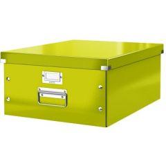 Cutie LEITZ Click & Store mare 369 x 200 x 484 mm, carton laminat - verde