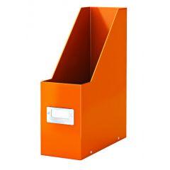 Suport vertical LEITZ Click & Store pentru documente, carton laminat - portocaliu