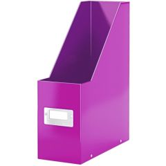 Suport vertical LEITZ Click & Store pentru documente, carton laminat - mov