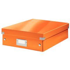 Cutie LEITZ Organizer Click & Store medie - portocaliu