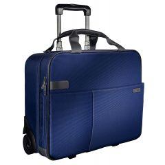 Geanta LEITZ Complete cu 2 rotile Smart Traveller - albastru/violet