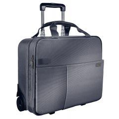 Geanta LEITZ Complete cu 2 rotile Smart Traveller - argintiu