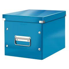 Cutie LEITZ Click & Store Cub, medie - albastru