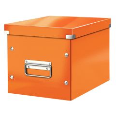 Cutie LEITZ Click & Store Cub, medie - portocaliu
