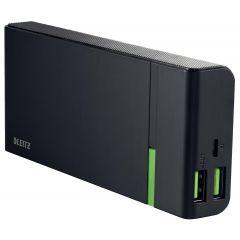 Baterie externa LEITZ Complete de mare viteza cu USB, 10.400 mAh - negru