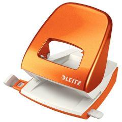Perforator metalic LEITZ WOW 5008 NeXXt Series, cutie, 30 coli - portocaliu metalizat