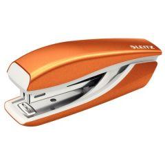 Capsator metalic, LEITZ WOW 5528 Mini NeXXt Series, 10 coli, cutie - portocaliu metalizat