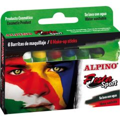 Creioane machiaj, 6 culori/cutie, ALPINO Sport