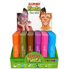 Display creioane pentru machiaj, 6 x 6culori/display, ALPINO Fiesta - Fantasy colours