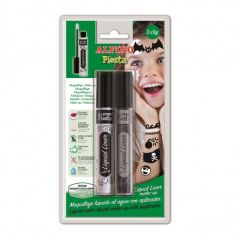 Tub machiaj, 6gr., 2 buc/blister, ALPINO Make-Up Liquid Liner - alb + negru