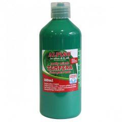 Tempera lavabila, 500ml, Alpino - verde inchis