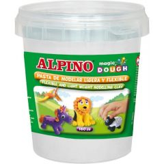 Plastilina magica, 160 grame/cutie, ALPINO - alba